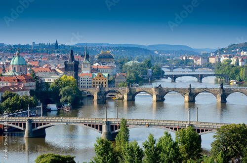 Poster Prague Ponts dans Prague