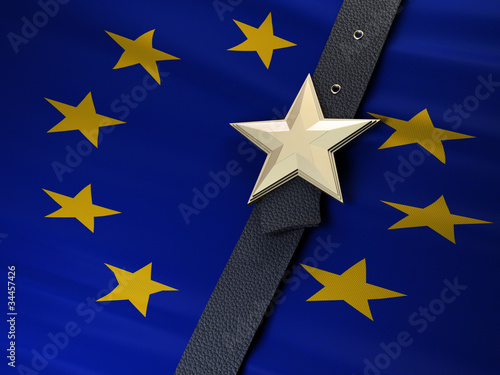 Poster Northern Europe EU Gürtel enger schnallen