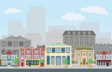 Urban Street Scene With Smart ...