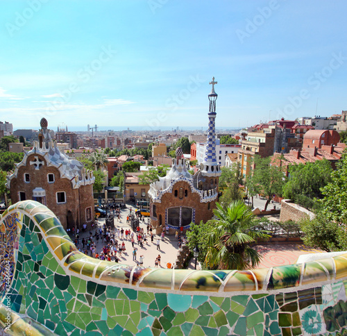 Papiers peints Barcelone BARCELONA, SPAIN : The famous Park Guell