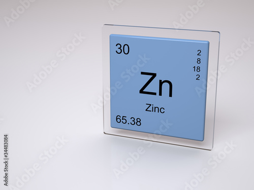 Zinc - symbol Zn - chemical element of the periodic table - Buy this ...