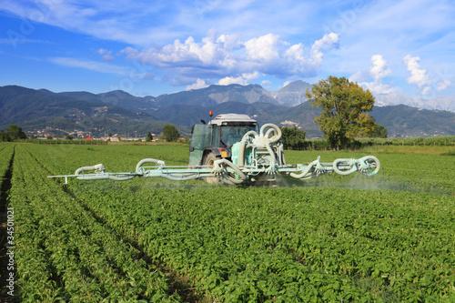 Fotografía  agriculture, tractor and pesticide