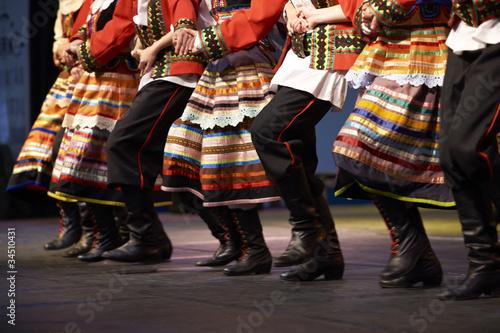 Photo sur Toile Europe de l Est Polnischer Volkstanz