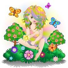 Fata Bambina Primavera-Fairy B...