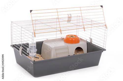 Fotografie, Obraz  cage pour rongeurs vide et ouverte