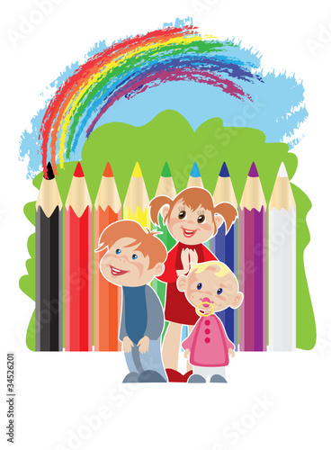 Photo Stands Rainbow Childhood