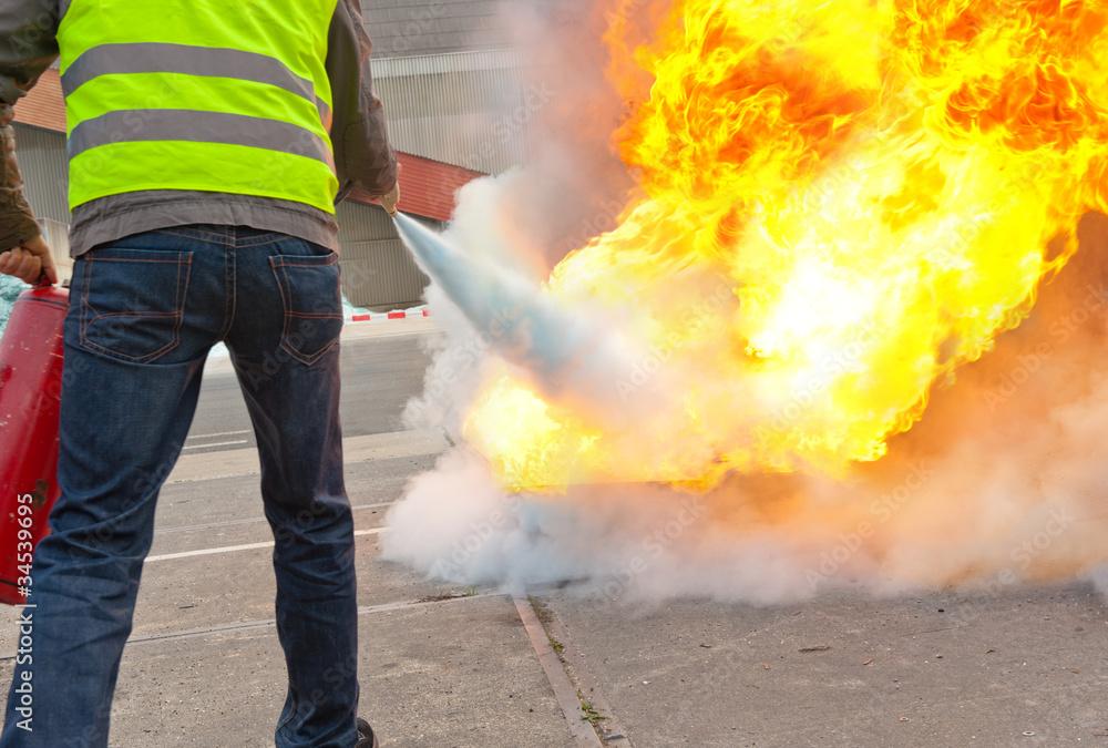 Fototapeta fire exercise