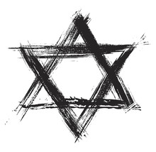 Judaic Religion Symbol Created In Grunge Style