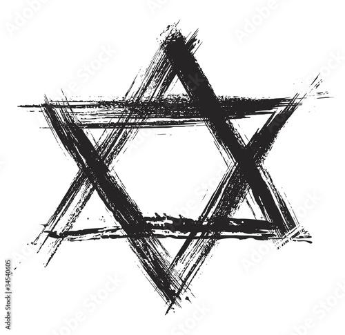 Fotografía Judaic religion symbol created in grunge style