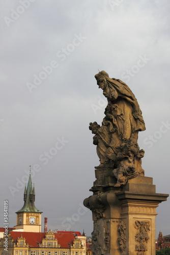 Plakat Posąg świętej Ludmiły