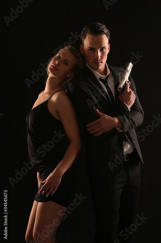 фотография  James Bond mit Bondgirl