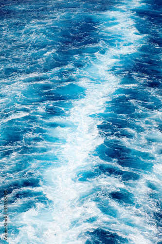 Wall Murals Crystals Trail of White and Blue Water Textured Background