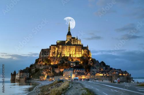 Cuadros en Lienzo HDR du Mont-Saint-Michel