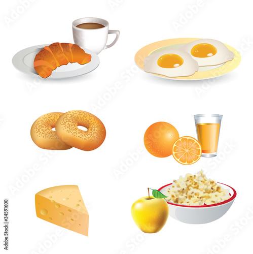 Breakfast icon set © itmuryn