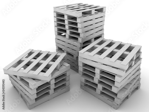 Photo  Stacked pallets