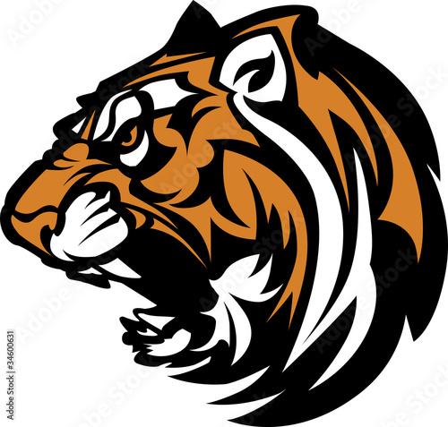 Photo  Tiger Mascot Graphic