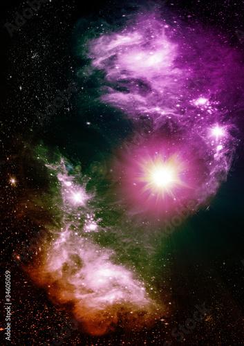 gwiazdy-planety-i-galaktyki-w-wolnej-przestrzeni