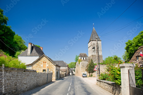 Photo  Typical French village