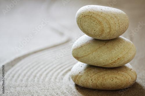 Acrylic Prints Stones in Sand Zen stones