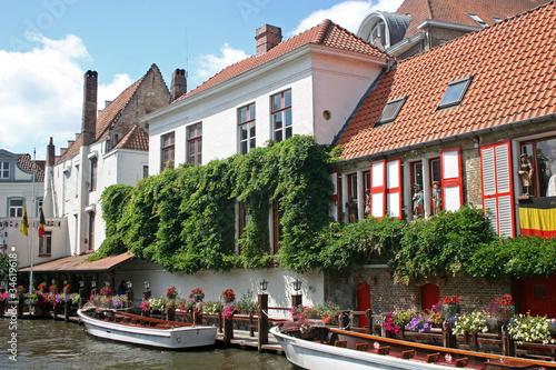 Wall Murals Bridges canal in Bruges