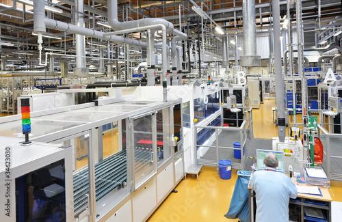 Poster Industrial geb. High Tech industrie factory // Industriebetrieb Solarzellen