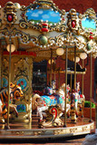 beautiful merry-go-round with horses