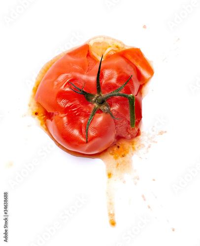 Fototapeta splattered splashed tomato vegetable food obraz