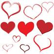 Herzen Heart Button handgemalt