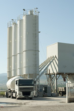 Cement Factory And A Truck Loa...