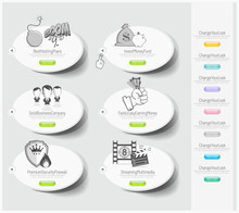Design Icons Set With Stickers