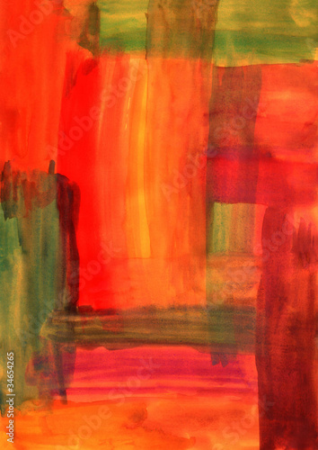 Abstract hand-drawn background in autumn colors