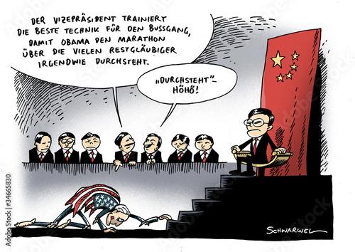 Valokuva  US-Vizepräsident auf Besuch beim USA-Gläubiger China