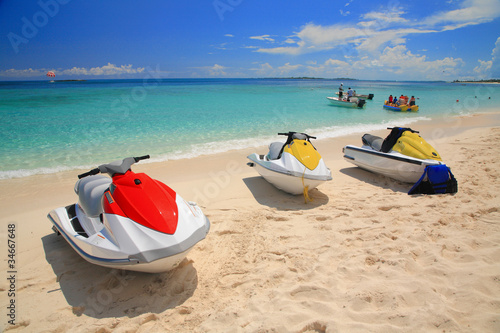 Recess Fitting Water Motor sports JETSKI ON THE BEACH