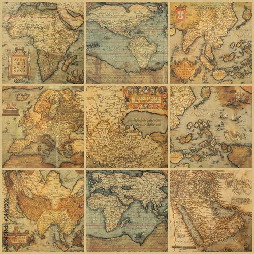 kolaz-z-antycznymi-mapami