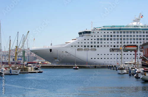 Ship in Coruña Port
