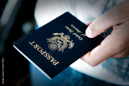 Photo  Passport in hand