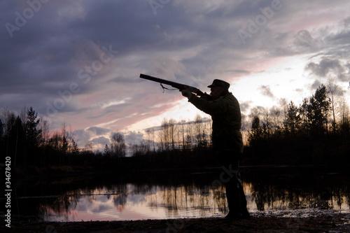 Fotobehang Jacht The hunter