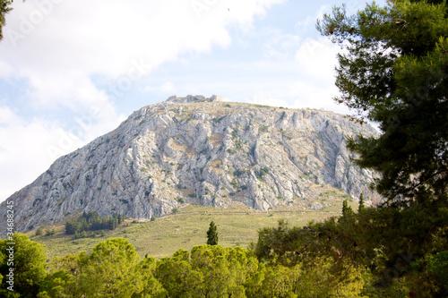 Fotografie, Obraz  Acrocorinth fortified mountain at Peloponnesus, Greece