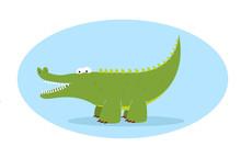 Green Alligator Character
