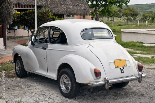 Türaufkleber Autos aus Kuba Old cuban car.