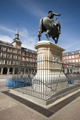statue Plaza Mayor Madrid Spain King Philips III