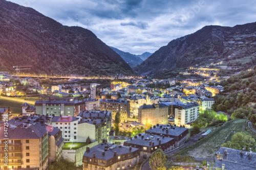 Encamp aerial view, Andorra