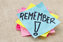 Remember On Sticky Note