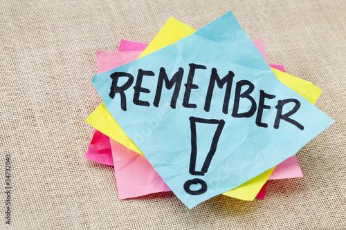 Obraz remember on sticky note - fototapety do salonu