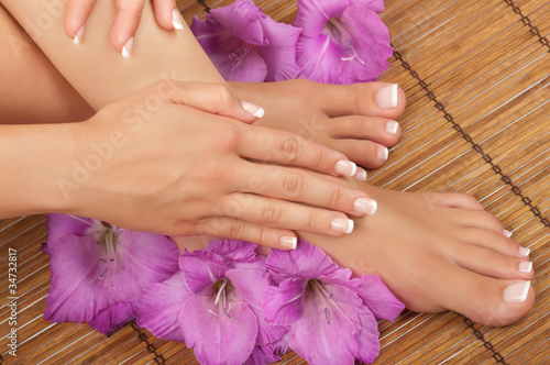 Tuinposter Pedicure Pedicure and Manicure Spa