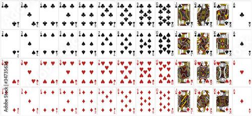Obraz na plátně Spielkarten