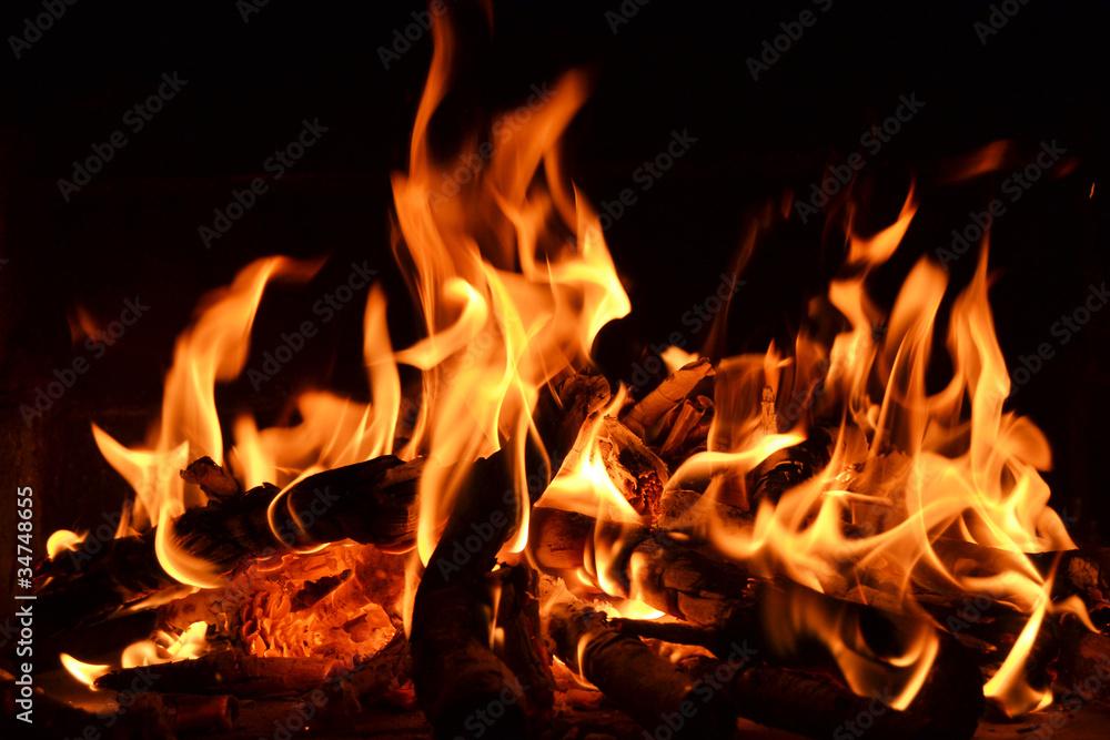 Leinwandbild Motiv - Natallia Vintsik : Feuer