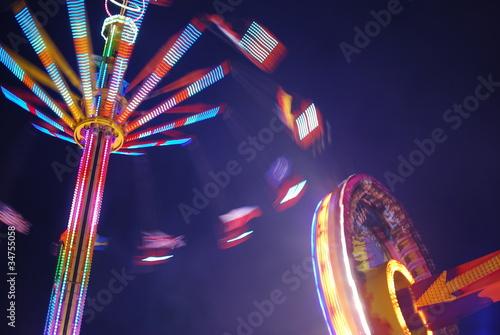Poster Amusementspark Rummelplatz