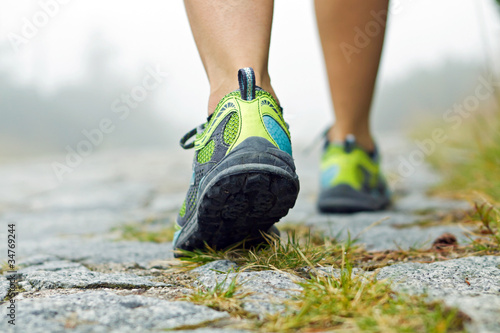 Foto  Walking exercise, sport shoes