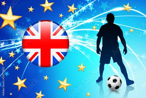 Fotografie, Obraz  British Soccer Player on Abstract Light Background